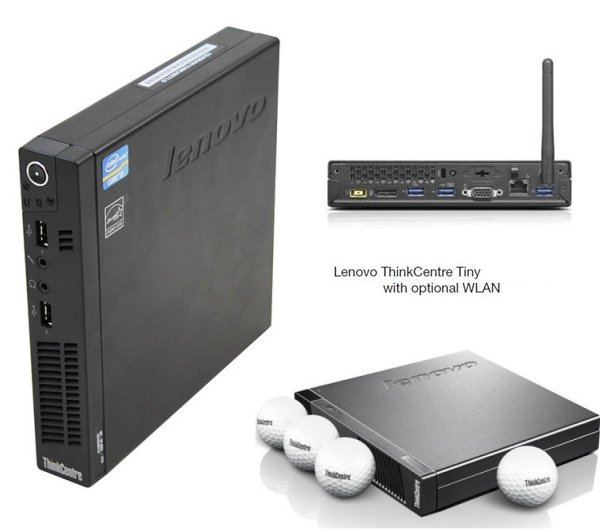 2.90Ghz/3.60Ghz IBM/Lenovo M93P Tiny PC 8GB 256GB SSD Wifi